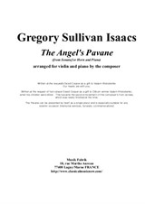 Gregory Sullivan Isaacs: The Angel's Pavanne for violin and piano